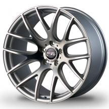 18 Inch Miro Type 111 Silver/Mattte Black 5x100